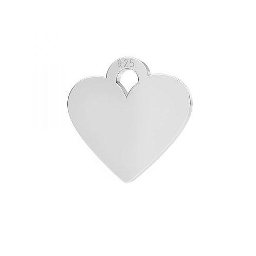 Mini Herz Anhänger Silber