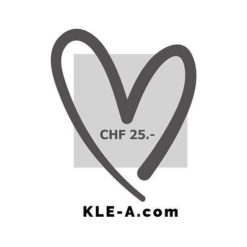 Gutschein CHF 25.-