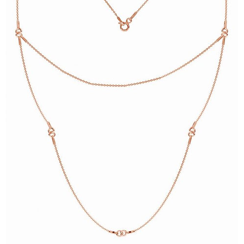 name chain rose gold with engraved pendant