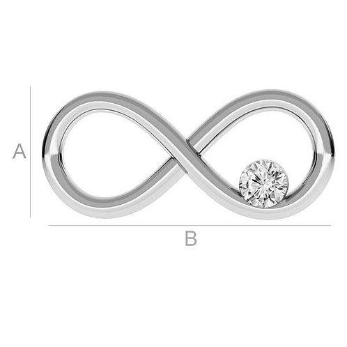 infinity pendant silver