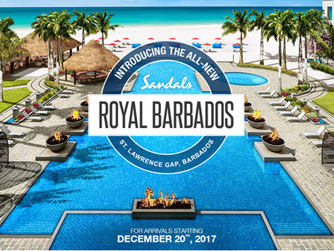 Sandals Royal Barbados - Debuts Dec. 2017! Book Today!