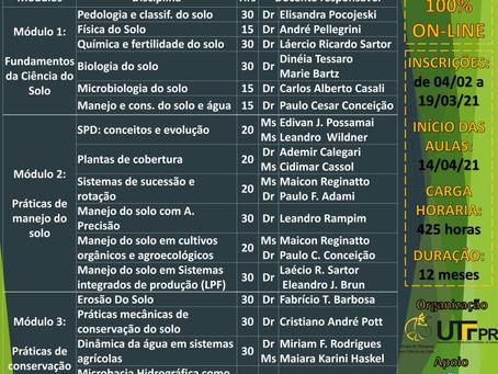 """UTFPR prorroga inscrições da """"Especialização em Manejo e Conservação do Solo"""""""