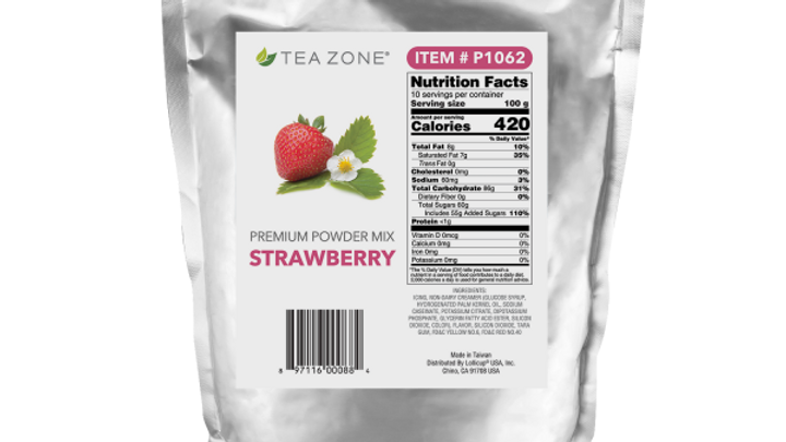 TEA ZONE STRAWBERRY POWDER (10/CS)