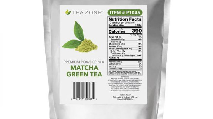 TEA ZONE MATCHA GREEN TEA POWDER (10/CS)