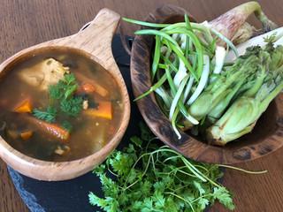 Wild vegetales soup