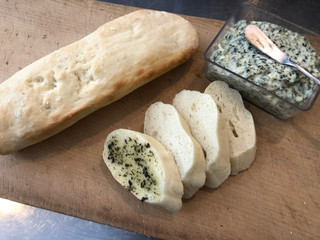 Herb butter baguette for sale