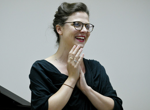 In Masterclass with Nathalie Paulin, Soprano at Stratford Summer Vocal Academy