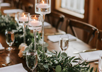 Farm Table with Greenery