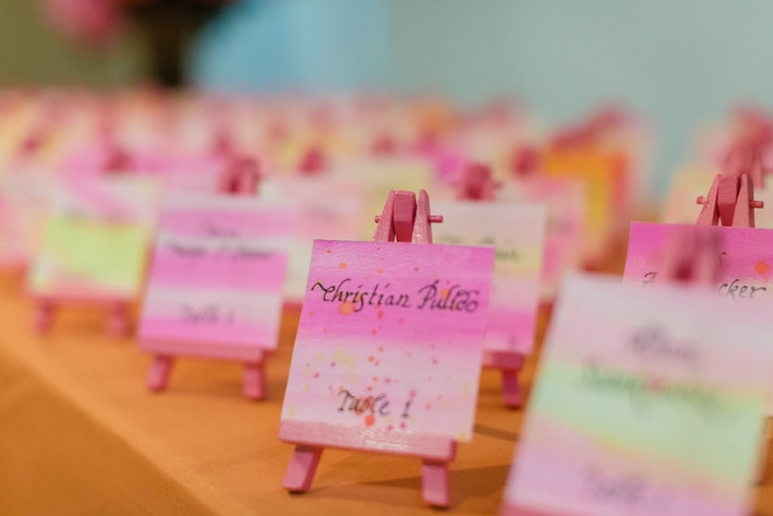 Custom Watercolor Place Cards