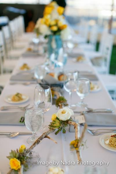 Yellow and Gray Table Scape