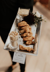 Hand Passed Hors D'oeuvres | Coconut Chicken with Pinacolada Dipping Sauce