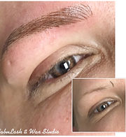 Before & Afterof Hairline Stroke Eyebrow Permanent Makeup
