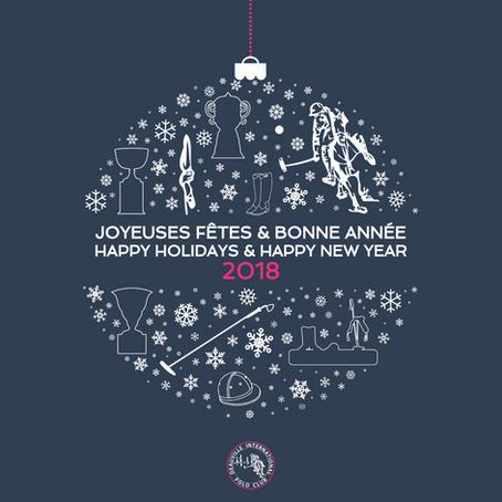 - Joyeuses Fêtes et Bonne Année 2018 -