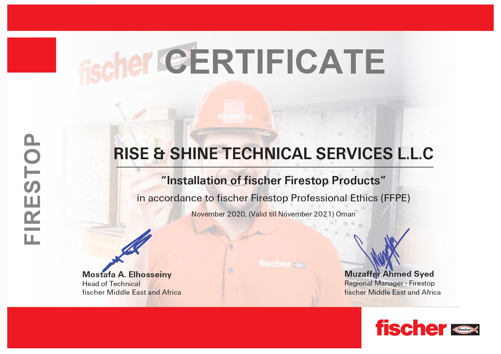 Fisher Certificate