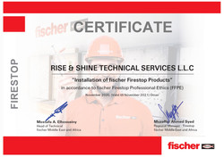 Fisher Certificate