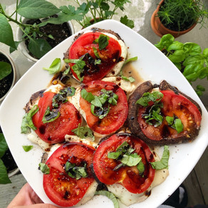 Caprese Mushrooms!