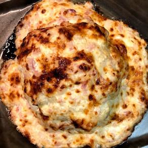 Creamy Cheese-y Cauliflower Head