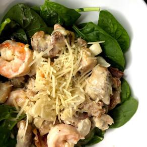 Chicken & Shrimp Carbonara