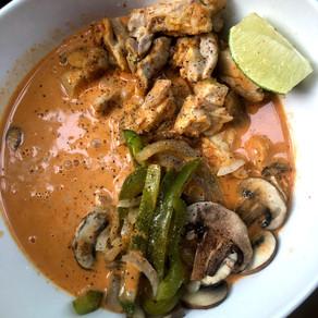 Keto Coconut Cream Red Curry Chicken & Veggies