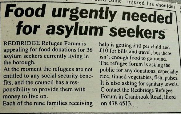 Food urgently needed