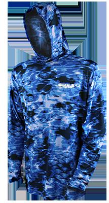 ScaleTech Long Sleeve Hoodie Bluefin