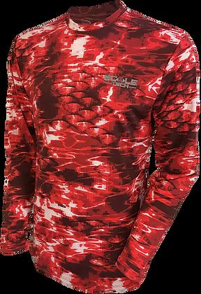 ScaleTech Long Sleeve Crew Cajun Red
