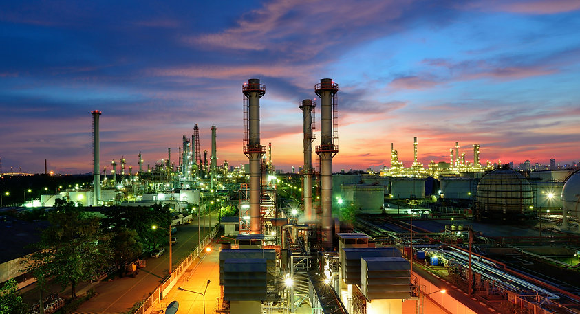 Oil refinery at twilight.jpg