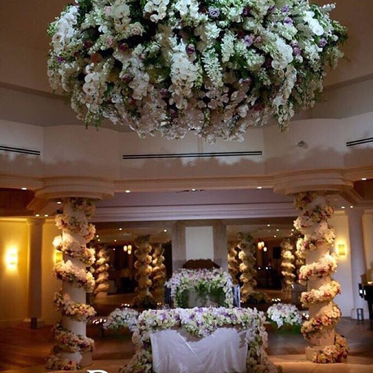 The reception floral was simply stunning
