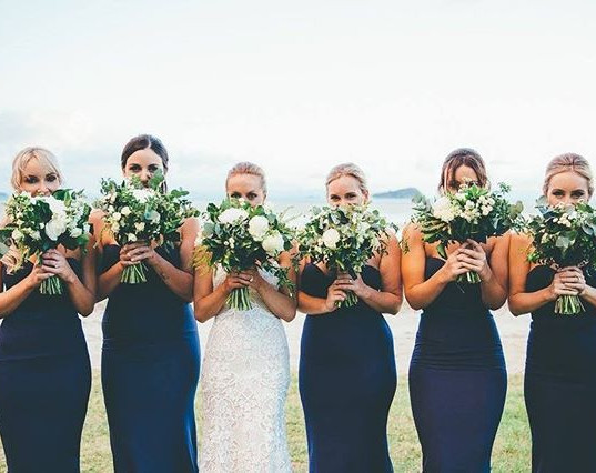 Stunning bridal party and their gorgeous