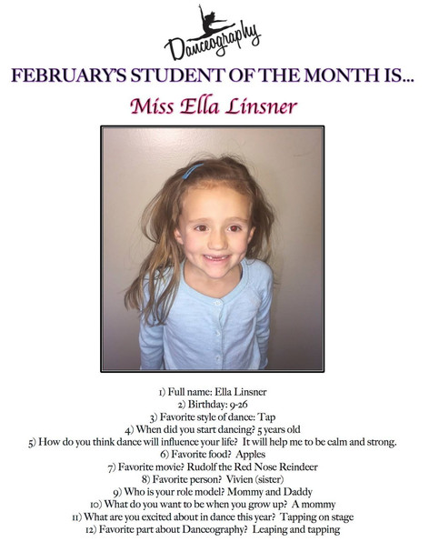 February's Student of the Month