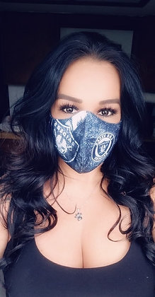 Black Las Vegas Raiders Custom Mask