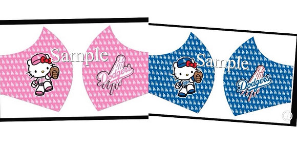 2 HelloKItty Mask Custom Pink/Blue