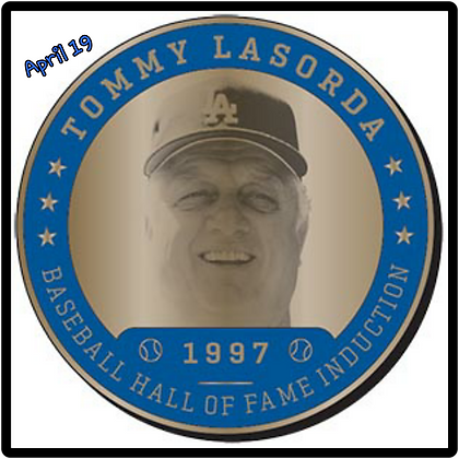 2017 Dodgers Coin Tommy Lasorda SGA Greatest Moment