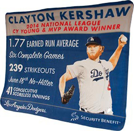 2015 SGA Clayton Kershaw Fleece 4/29 New