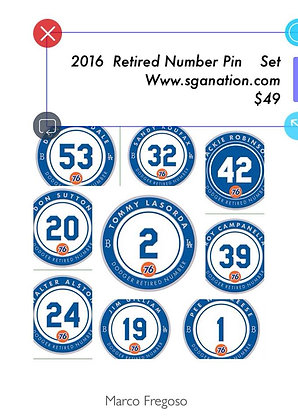 2016 SGA Dodgers Retired Pin Set Presale