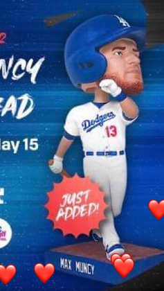 2019 Dodgers Max Muncy Bobblehead Presale TORN BOX