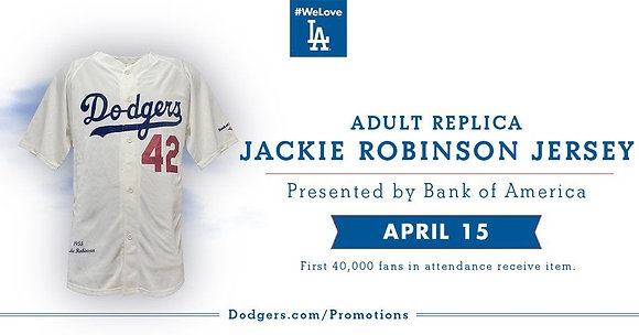 2016 SGA Dodgers  Jackie Robinson Jersey  NEW