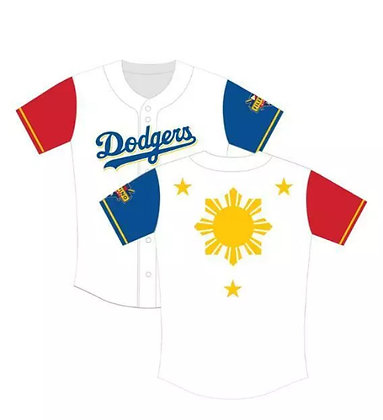 2019 Los Angeles Dodgers Filipino  Jersey   XL