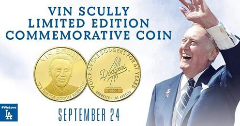 2016 SGA Dodgers Vin Scully Coin