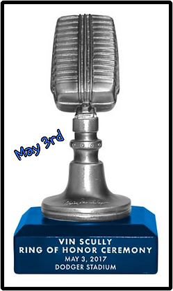 2017  Dodgers Vin Scully MIC 5/1 SGA