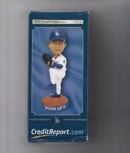 2008 SGA Dodgers Takashi Saito Bobblehead New