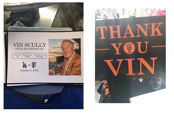 2016 Vin Scully Final MLB Broadcast Poster ATTPark