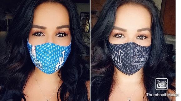 2 Masks Custom Black/Blue Custom Masks