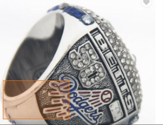 2020 DodgersWS Ring Betts