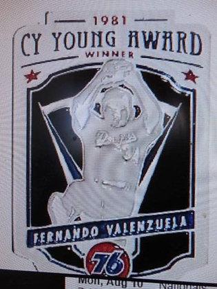 2015 SGA Dodgers Fernando Valenzuela Pin