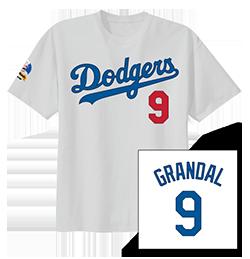 2017 Dodger Kids XL T-shirt Jersey Yasmani Grandal