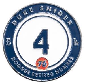 2016 SGA Dodgers Retired Pin Duke Snider #4 New
