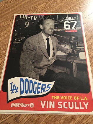 2016 Dodger Stadium Exclusive Poster Vin Scully #2