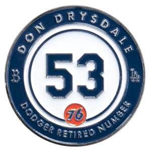 2016 SGA Dodgers Retired Pin #53 Don Drysdale