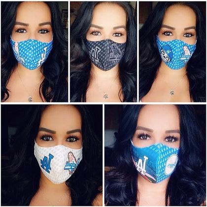 5 Masks Custom Black/Blue/DDLD/ White/Stadium